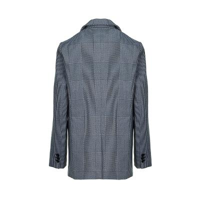 check pattern one button jacket